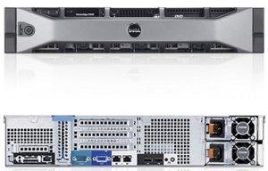 Сервер Dell PowerEdge R520 8B Base1C 3y PNBD ( no CPU (1 CPU riser), no  Mem, no HDDs, no Contr, no PSU, DVD+/-RW), Broadcom 5720 GbE Dual Port on
